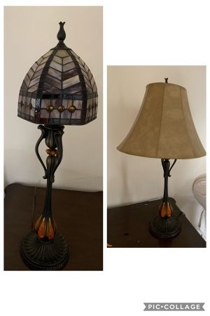 Tiffany style lamp set(2) w/additional contemporary lamp shade for Sale in Edgewater, NJ