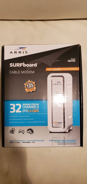 ARRIS SURFboard Cable Modem SB6190 for Sale in Phoenix, AZ