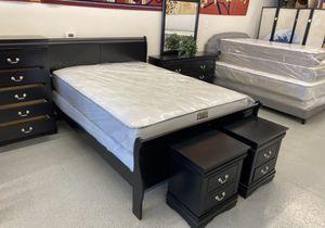 Furniture mattress- 🔥🔥Queen bed frame dresser mirror nightstand 🔥🔥 for Sale in North Highlands, CA