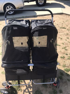 Pet stroller for two for Sale in Rancho Cucamonga, CA