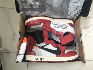 """Jordan 1 Chicago's """"off white"""" size 10 for Sale in Los Angeles, CA"""
