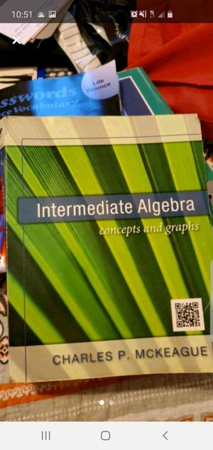 Intermediate Algebra concepts and graphs for Sale in Ruskin, FL