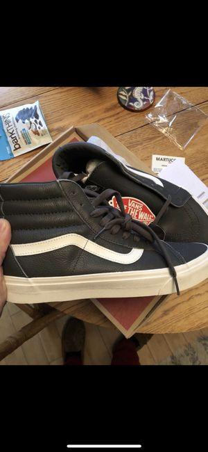 Vans hi leather gray size 10.5 new for Sale in Denver, CO
