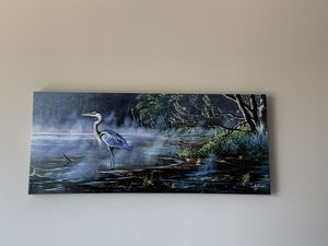 Blue Herron ink canvas print for Sale in Austin, TX
