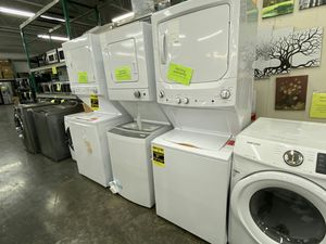 NEW GE 3.8 cu. ft. Washer with 5.9 cu. ft Electric Dryer IN WHITE for Sale in Chino Hills, CA