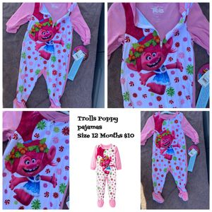 Trolls Baby Girl Pajamas 12months $10 🙅🏻‍♀️ Firm Pick Up Only No Lowballers for Sale in Los Angeles, CA