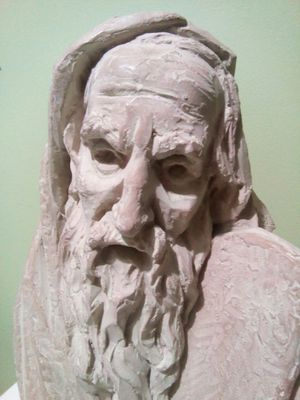 Moses Statue Arnold Bergier Judaica Sculpture 1967 Leonardo Arts Work Inc for Sale in Lorton, VA