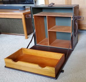 RARE 1945 WW2 US Army Field Desk Travel Trunk Herkert and Meisel WWII for Sale in Alexandria, VA