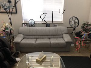 4 piece leather sofa set for Sale in Dublin, CA