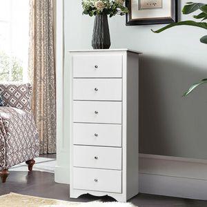 6 Drawers Chest Dresser Clothes Storage Bedroom Furniture Cabinet for Sale in El Monte, CA