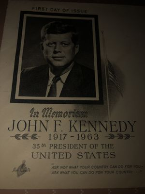 John F Kennedy first day of issue envelope with catchers for Sale in San Angelo, TX