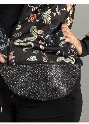 d'margeaux New York Fanny Pack Belt Bag Waist Sparkle Black Rave Bag Bumbag Hip for Sale in Downey, CA