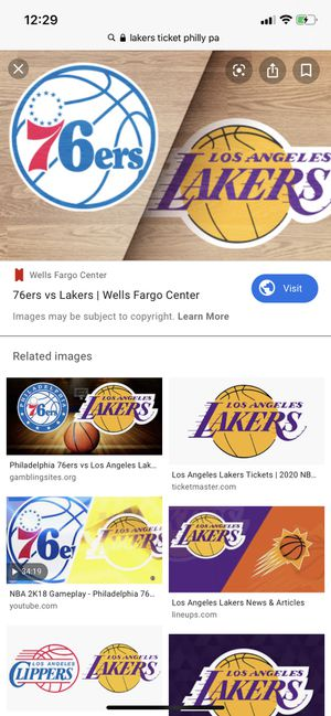 2 lakers tickets***great Seats**** January 25,2020 for Sale in Harrisburg, PA