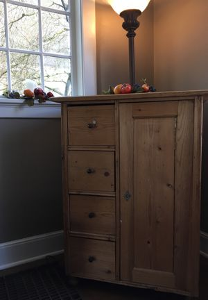 Antique Rustic European Cabinet, imported for Sale in Medina, WA