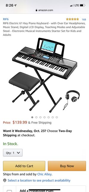RIF6 Electronic Keyboard for Sale in Azusa, CA