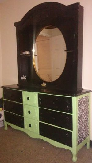 Hand crafted dresser and mirror for Sale in Murfreesboro, TN