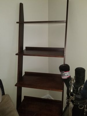2 American Signature Furniture Store ladder shelves. Excellent condition. 27x21x78. Both for only $50 for Sale in Cocoa Beach, FL