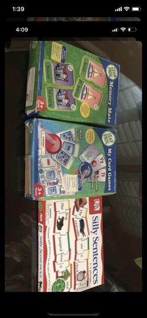 3 Fun games while learning for Sale in Rancho Cucamonga, CA