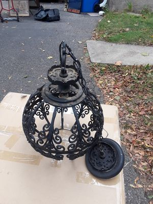 Nice old hanging light for Sale in Belmont, MA