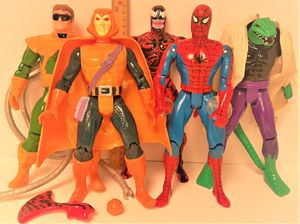 "Marvel Spiderman Deluxe Edition Figures by Toy Biz 1994 ~ Lot of 5 ~ approx. 10"" for Sale in Stockton, CA"