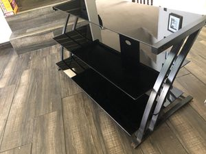 TV Stand - Black Glass and Metal for Sale in Corona, CA