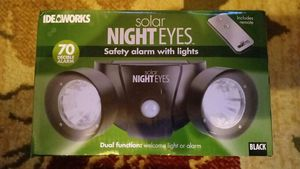 Solar Night Eyes Dual Alarm Lights W/ Remote for Sale in Hannibal, MO