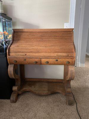 Antique roll top desk (oak?) for Sale in Tacoma, WA