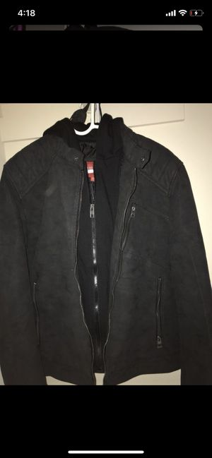 Guess jacket large but also can fit medium for Sale in Landover, MD