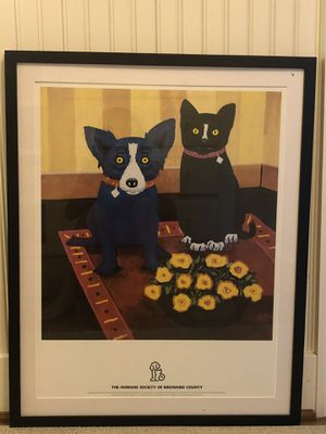 1998 George Rodrigue Blue Dog and Cat for Sale in Seattle, WA