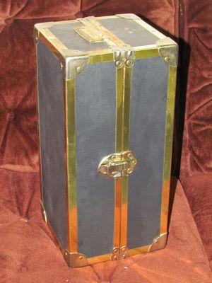 Antique black and gold doll travel trunk for Sale in Mount Laurel, NJ