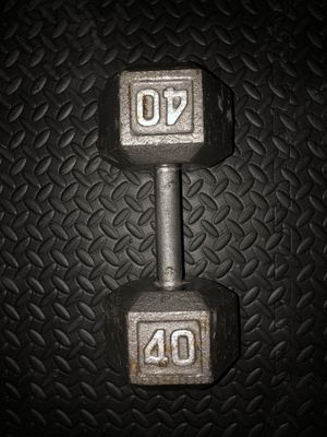 One 40 lb cast dumbbell (used) for Sale in Irvine, CA