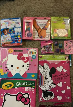 Girl's Activity's Hello kitty,American Girl & Minnie Mousse for Sale in El Cajon, CA