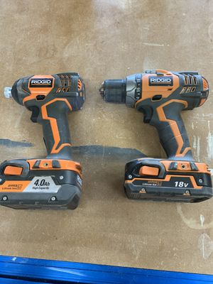 Ridgid X4 Drill and Impact Driver for Sale in Troy, NY