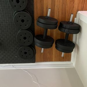 Barbell Customizable Dual Two Set With Weights for Sale in West Hollywood, CA