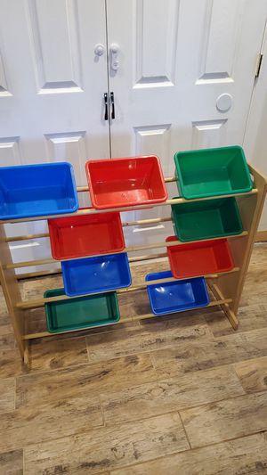 Toy storage shelf with bins for Sale in PA, US