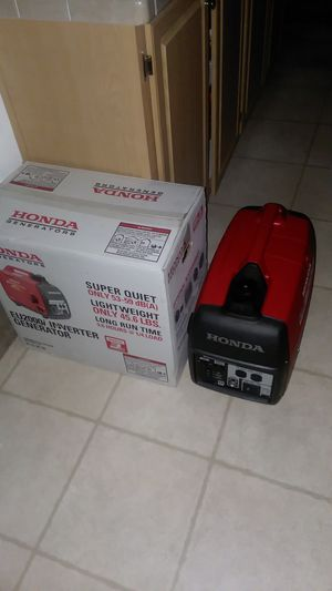 Honda Eu2000i I have two one brand new in box never run for 900.00 and one with 5 hours for 850.00. for Sale in Tonto Basin, AZ