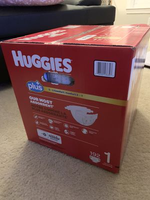 Huggies Little Snugglers Size: 1 (192 ct) for Sale in Fairfax, VA