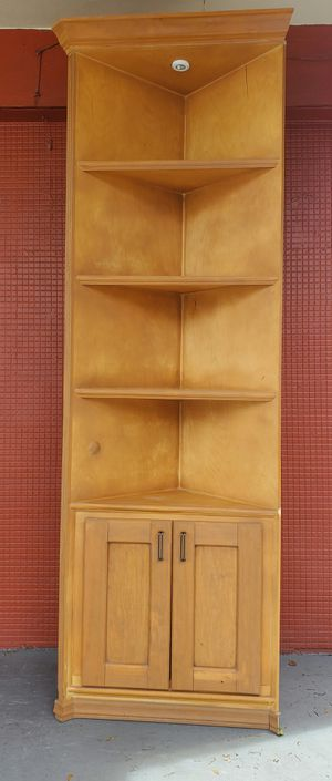 Tall wood corner shelf for Sale in Fort Lauderdale, FL