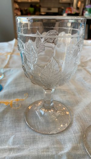 Pressed glass water goblets for Sale in Golden, CO