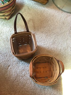Longaberger baskets pair for Sale in Cuyahoga Falls, OH