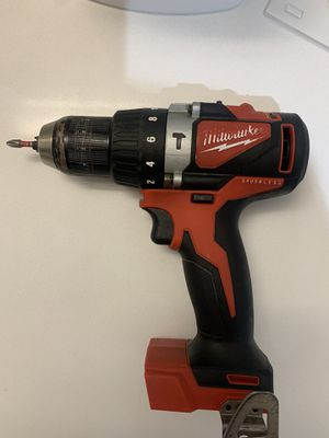 "aMilwaukee m18 18 volt brushless cordless 1/2"" compact hammer drill tool only for Sale in West End, MA"