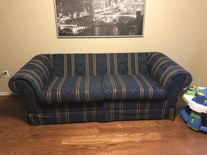 Blue stripes couch for Sale in Frederick, MD