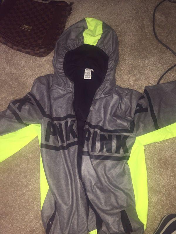Cute Vs pink hoodie jacket raincoat material