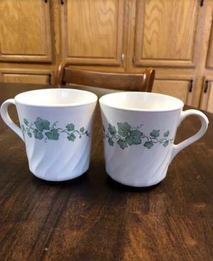 Corningware ivy pattern coffee/tea cups for Sale in Jones, OK