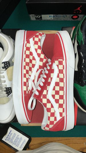Red Checkered Vans for Sale in Dakota, IL