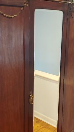 Antique Armoire With Beveled Mirror for Sale in Virginia Beach,  VA
