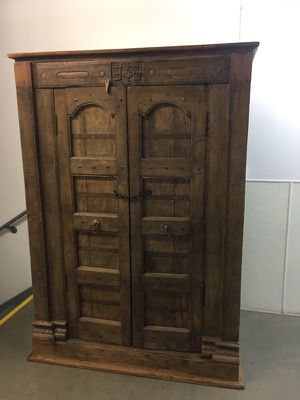 Antique wooden handmade armoire for Sale in Santa Monica, CA