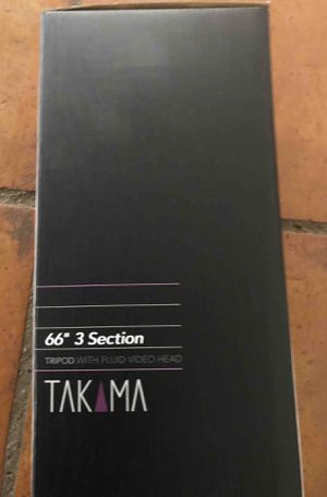 "NEW Takama 66"" Tripod with fluid video head for Sale in Sudbury, MA"