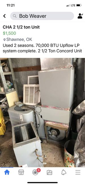 2 1/2 ton Concord AC and heat pump unit for Sale in Shawnee, OK