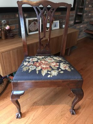 Clawfoot Floral Needlepoint Antique Chair for Sale in Philadelphia, PA